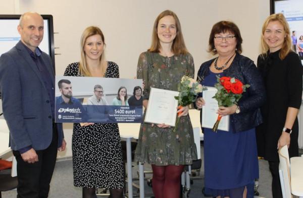 Fotol vasakult Tartu Ülikooli Pedagogicumi juhataja Margus Pedaste,  Playtechi brändi- ja kommunikatsioonijuht Egle Merbach, üliõpilased%.jpg